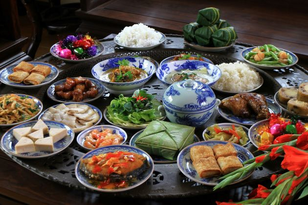 cuisine at lunar new year in Vietnam