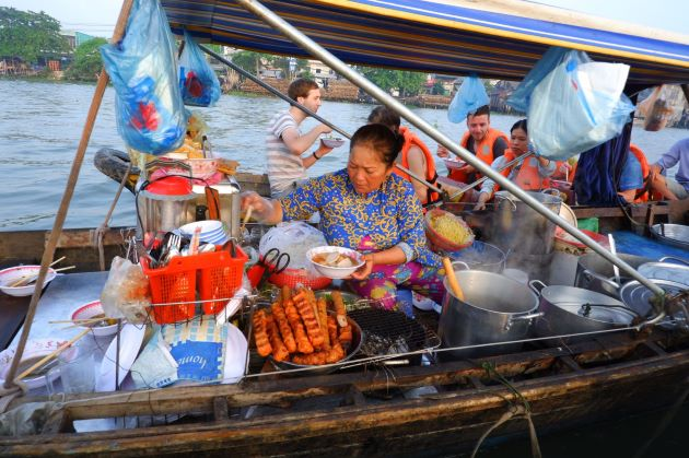 food stall at floating market