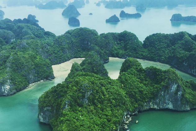 halong bay view from seaplane