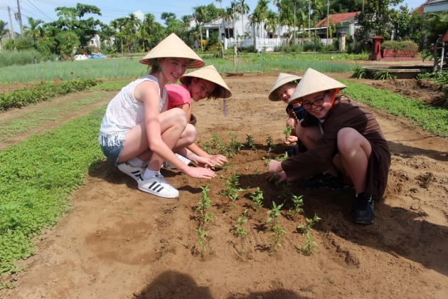 hoi an farming tour for family
