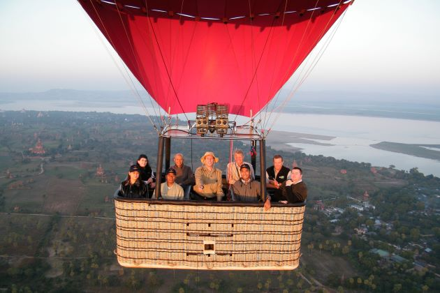 hot air ballon in myanmar luxury tour company in vietnam