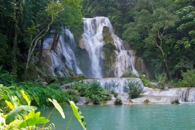 kuangsi waterfall in laos