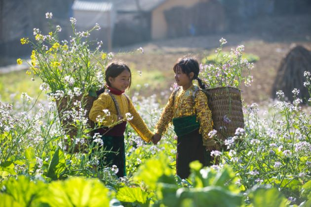 local children in sapa