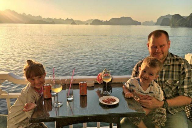 luxury halong bay family on cruise