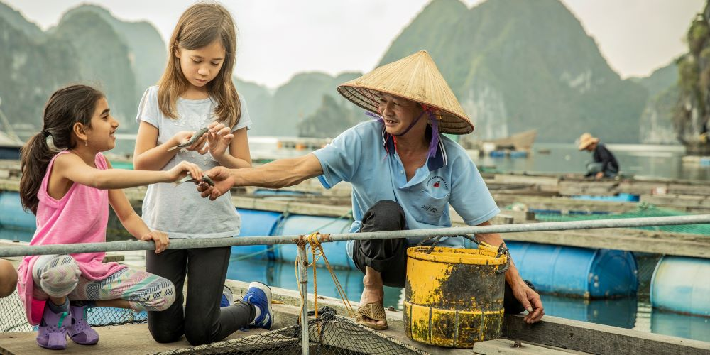 luxury vietnam family holidays at fishing village in halong bay