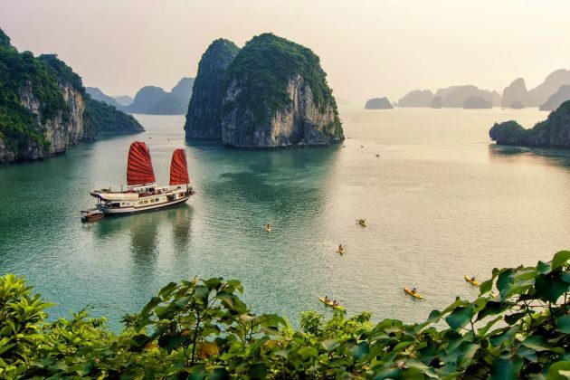 panoramic view of halong bay