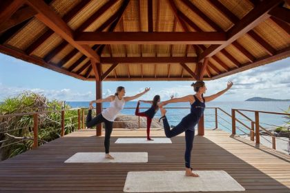 practice yoga lesson in ninh van bay vietnam wellness and spa treatments