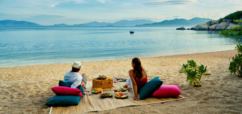 relax at private beach resort