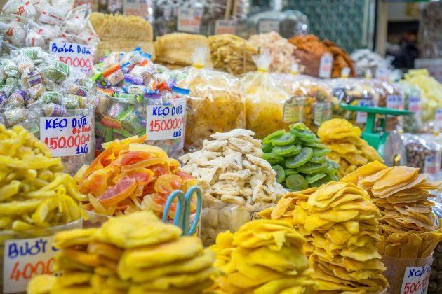 street foods in Ben Thanh Market
