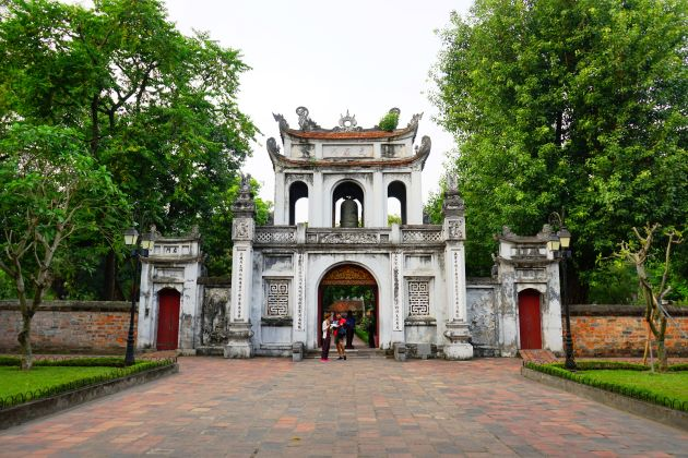temple of literature is a must visit destination on luxury family trips in vietnam