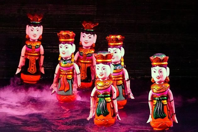the traditional water puppet show