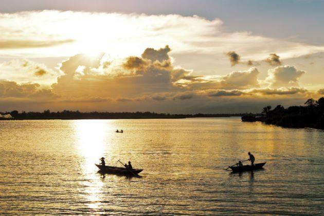 thu bon river boat trip