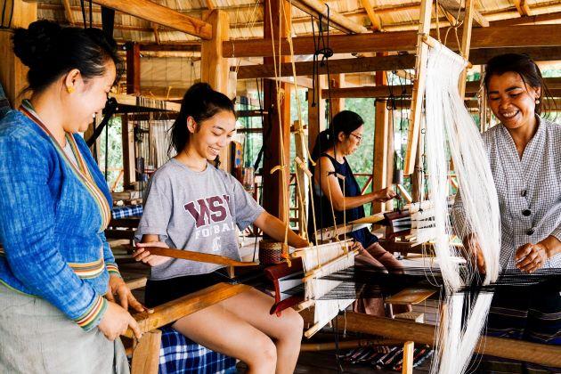 weaving in laos vietnam luxury travel agent